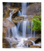 Peaceful Waterfall Fleece Blanket