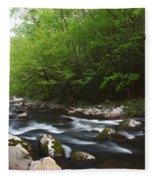 Peaceful Stream Fleece Blanket