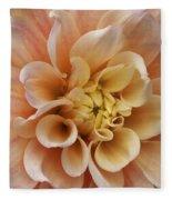 Peach Dahlia Fleece Blanket