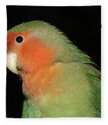 Peach Faced Lovebird Fleece Blanket
