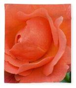 Peach Faced Rose Fleece Blanket