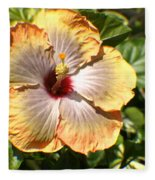 Peach Flower Fleece Blanket