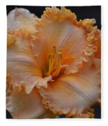 Peach Ruffled Lily Fleece Blanket