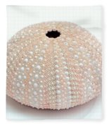 Peach Sea Urchin White Fleece Blanket