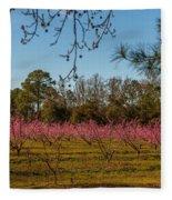 Peach Tree A Bloom Fleece Blanket