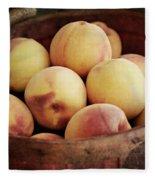 Peaches In A Basket Fleece Blanket