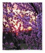 Peachy Sunset 1 Fleece Blanket