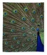 Peacock 17 Fleece Blanket