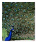 Peacock 8 Fleece Blanket