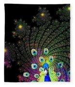 Peacock Explosion Display Fleece Blanket