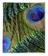 Peacock Eye And Sword Fleece Blanket