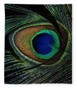 Peacock Eye Fleece Blanket