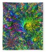 Peacock Feather Abstract Fleece Blanket