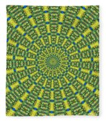 Peacock Feathers Kaleidoscope 2 Fleece Blanket