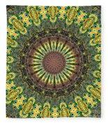 Peacock Feathers Kaleidoscope 7 Fleece Blanket