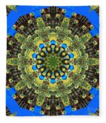 Peacock Feathers Kaleidoscope 9 Fleece Blanket