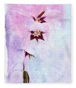 Peacock Orchids Fleece Blanket