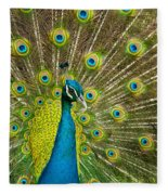 Peacock Pride Fleece Blanket