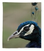 Peacock Profile  Fleece Blanket