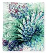 Peacock Tail Fleece Blanket