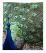Peacock Up Close Fleece Blanket