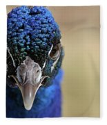 Peacock Up Close Fleece Blanket