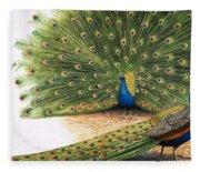 Peacocks Fleece Blanket