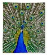 Peafowl Peacock Fleece Blanket