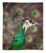 Peahen And Peacock Fleece Blanket