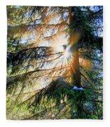Peeking Through God's Shadow Fleece Blanket