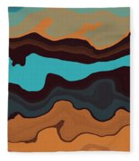 Peaks And Valleys 3 Fleece Blanket