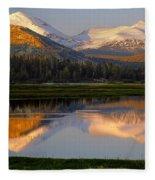 6m6530-a-peaks Reflected Touolumne Meadows  Fleece Blanket