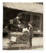 Peanut Vendor, 1910 Fleece Blanket