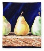 Pear Pear And A Pear Fleece Blanket