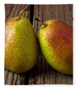 Pear Still Life Fleece Blanket