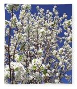 Pear Tree Blossoms In Spring Fleece Blanket