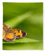 Pearl Crescent Notecard Fleece Blanket