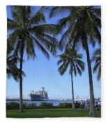 Pearl Harbor Hawaii Fleece Blanket