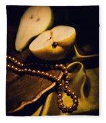 Pearls And Pears Fleece Blanket