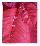 Pearls On Poinsettia Fleece Blanket