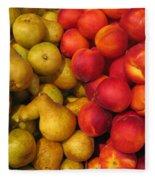 Pears And Peaches. Fresh Market Series Fleece Blanket