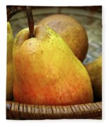 Pears In A Basket Fleece Blanket