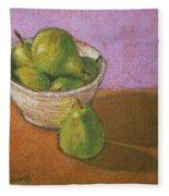 Pears In Bowl Fleece Blanket