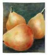 Pears Still Life Fleece Blanket