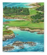 Pebble Beach 15th Hole-south Fleece Blanket