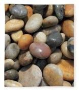 pebble beach Chesil UK  Fleece Blanket