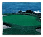 Pebble Beach Golf Course 8th Green Fleece Blanket