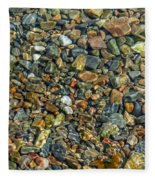Pebbled Shore At Ullapool Fleece Blanket