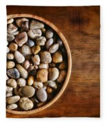 Pebbles In Wood Bowl Fleece Blanket