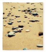 Pebbles On The Beach Fleece Blanket